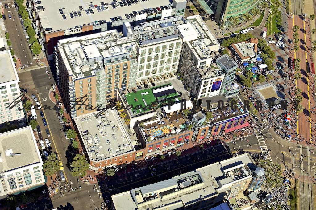 Downtown San Diego Comic Con Aerial Photo