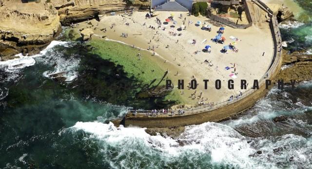 La Jolla Cove Aerial Photo