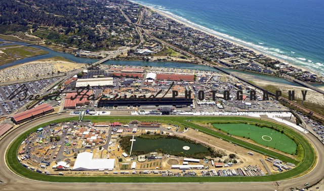 Del Mar Fair Grounds Aerial San Diego