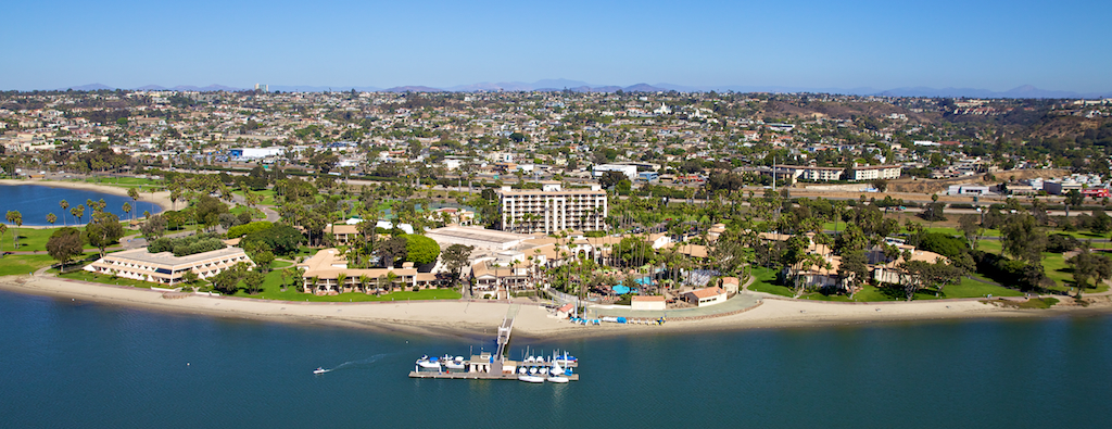 San Diego Aerial Photo of the Mission Bay Hilton Hotel