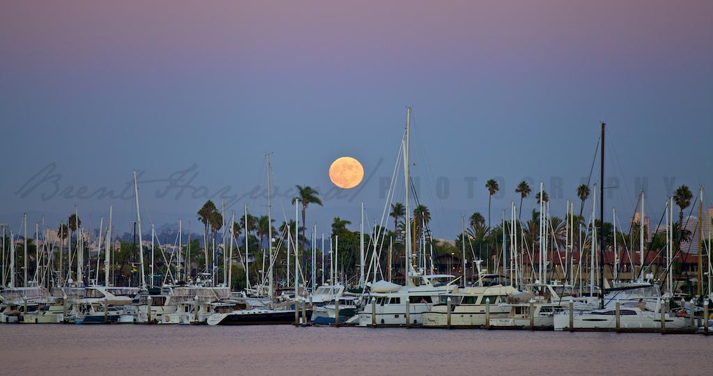 San Diego Stock Photo of the Moon