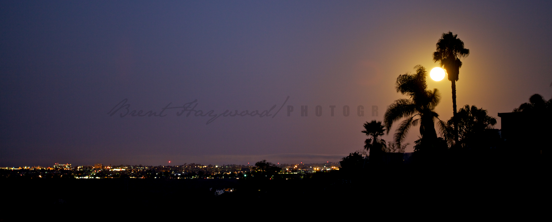 San Diego Stock Moon Photo
